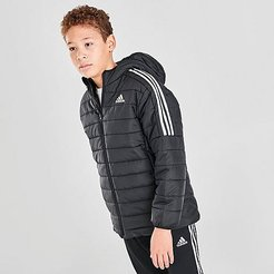Kids' Badge of Sport Puffer Jacket in Black/Black Size Small Polyester
