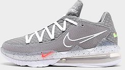 LeBron 17 Low Basketball Shoes in Grey/Particle Grey Size 8.0 Knit