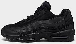 Air Max 95 Essential Casual Shoes in Black/Black Size 8.5 Leather/Nylon