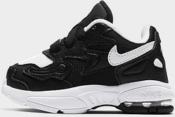 Boys' Toddler Air Max2 Light Casual Shoes in Black/Black Size 5.0 Leather
