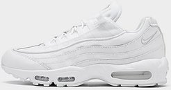 Air Max 95 Essential Casual Shoes in White/White Size 8.0 Leather/Nylon