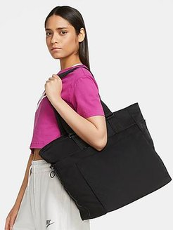 One Luxe Training Tote Bag in Black/Black 100% Nylon/Polyester