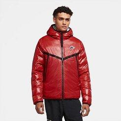 Sportswear Synthetic-Fill Marble Windrunner Jacket in Red/University Red Size Large 100% Polyester/Plastic/Fiber