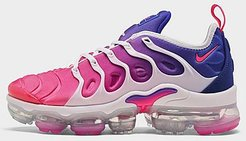 Air VaporMax Plus SE Running Shoes in Pink/Blue/Multi-Color Size 5.5 Leather/Suede