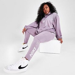 Sportswear Air Leggings (Plus Size) in Purple/Purple Smoke Size Extra Large Cotton/Polyester/Spandex