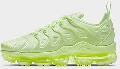 Air VaporMax Plus Running Shoes in Green/Barely Volt Size 6.0 Leather/Suede