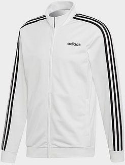 Essentials 3-Stripes Tricot Track Jacket in White/White Size Small Polyester