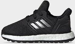 Boys' Toddler UltraBOOST 20 Running Shoes in Black/Core Black Size 4.0 Knit