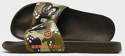Classic Pool Slide Sandals in Green/Camo Size Small