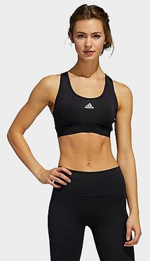 Believe This Medium-Support Sports Bra in Black/Black Size Small Polyester