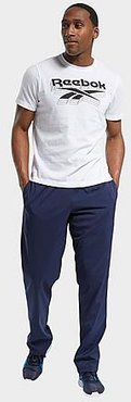 Training Essentials Woven Unlined Sweatpants in Blue/Vector Navy Size Small 100% Polyester