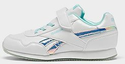 Girls' Little Kids' Royal Classic Jogger 3 Casual Shoes in White/White Size 3.0 Leather/Suede