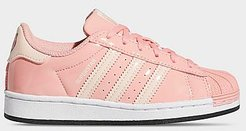 Little Kids' Originals Superstar x Hamm Toy Story Casual Shoes in Pink/Glory Pink Size 2.0 Leather