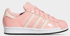Big Kids' Originals Superstar x Hamm Toy Story Casual Shoes in Pink/Glory Pink Size 4.0 Leather