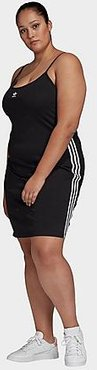 Originals 3-Stripes Spaghetti Strap Dress (Plus Size) in Black Size Extra Large Cotton/Jersey