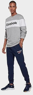 Identity Big Logo Jogger Pants in Blue/Vector Navy Size Small Cotton/Polyester
