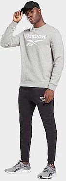 Identity Big Logo Jogger Pants in Black/Black Size Small Cotton/Polyester