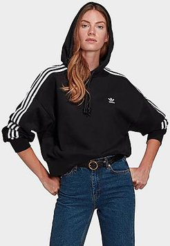Originals R.Y.V. Cropped Hoodie in Black/Black Size X-Small Cotton/Polyester