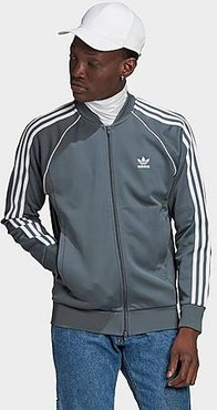 Classics Adicolor Primeblue SST Track Jacket in Grey/Blue/Blue Oxide Size X-Small Cotton/Polyester/Plastic