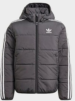 Kids' Originals Adicolor Padded Jacket in Black/Black Size Small Cotton/Polyester
