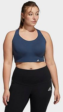 Ultimate High-Support Sports Bra (Plus Size) in Blue/Crew Navy Size 32F Polyester