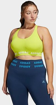 Training Aeroknit Light-Support Sports Bra (Plus Size) in Yellow/Acid Yellow Size Extra Large Polyester/Knit