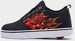Boys' Big Kids' Pro 20 Flames Wheeled Skate Casual Shoes in Black Size 4.0 Nylon/Canvas/Microfiber