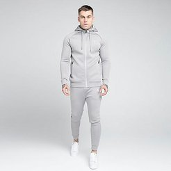 Cuffed Jogger Pants in Grey/Vapour Grey Size Small Silk