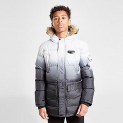 Boys' Supply & Demand Rayleigh Parka Jacket in White/Black/Black Fade Size Small 100% Polyester