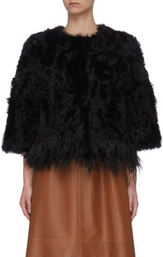 Feather fur jacket