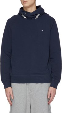 Star embroidered piping detail hoodie