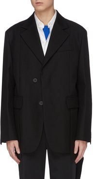 Panelled wool blazer