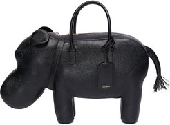 Hippo Duffle Pebble Grain Handle Bag