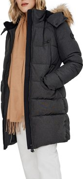 NOIZE Addie Quilted Faux Fur Trim Parka at Nordstrom Rack