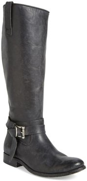 Frye Melissa Leather Knotted Tall Riding Boot - Wide Calf Available at Nordstrom Rack