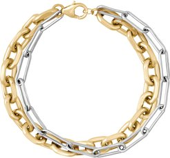 Metallic Two-Tone Bracelet