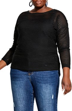 Plus Size Women's City Chic Soft Touch Sweater