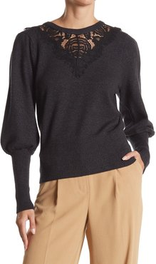 Laundry By Shelli Segal Lace Yoke Bishop Sleeve Sweater at Nordstrom Rack