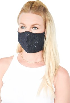 Embroidered Adjustable Contoured Cotton Face Mask