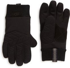 UGG Faux Fur Lined Quilted Gloves