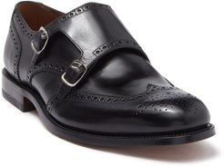 MORAL CODE August Leather Wingtip Double Monk Strap Loafer at Nordstrom Rack
