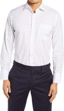 Big & Tall Nordstrom Slim Fit Non-Iron Dobby Dot Dress Shirt