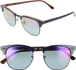 Clubmaster 51mm Sunglasses - Blue/ Red/ Blue Mirror