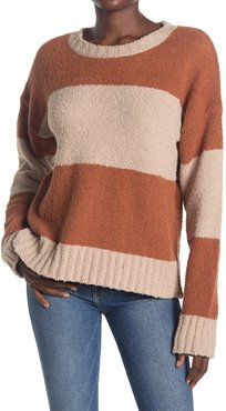 THREAD AND SUPPLY Long Sleeve Stripe Print Pullover Sweater at Nordstrom Rack