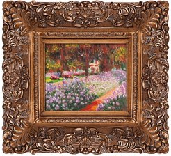 Overstock Art Artist's Garden at Giverny - Framed Oil reproduction of an original painting by Claude Monet at Nordstrom Rack