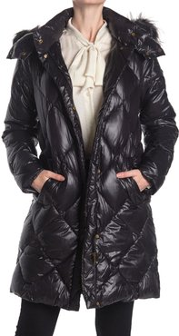 Donna Karan Quilted Faux Fur Hood Puffer Jacket at Nordstrom Rack
