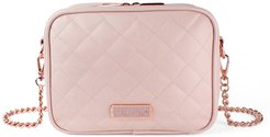 Double Take Faux Leather Crossbody Diaper Bag - Pink