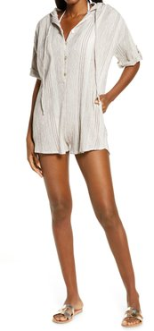 Peasant Hooded Cover-Up Romper