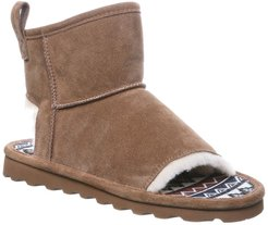 BEARPAW Molly Suede Faux Fur Trim Slipper Boot at Nordstrom Rack