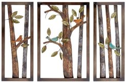 Willow Row Multi Metal Wall Plaque - Set of 3 at Nordstrom Rack